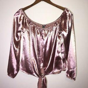 Rose gold silk top | Charlotte Russe